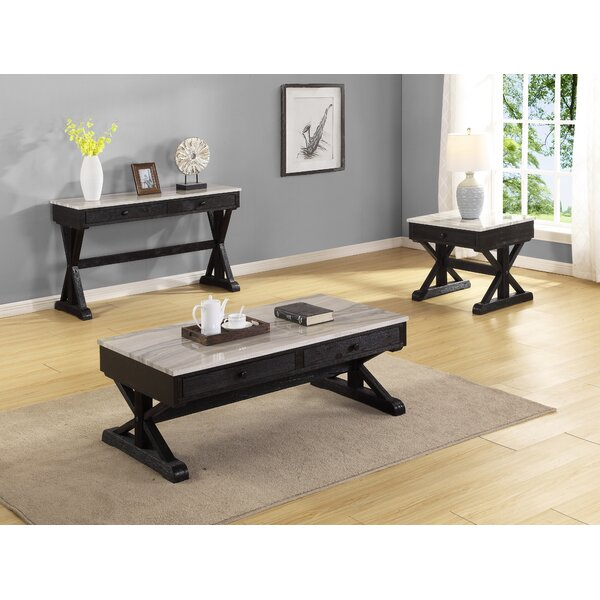 Brickner 3 Piece Coffee Table Set by Ebern Designs Ebern Designs