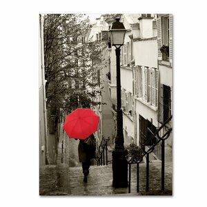'Paris Stroll II' Photographic Pint on Canvas by Trademark Fine Art