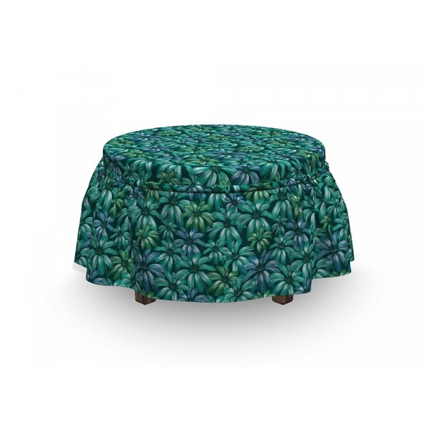 Exotic Blooms Foliage Ottoman Slipcover (Set Of 2) By East Urban Home