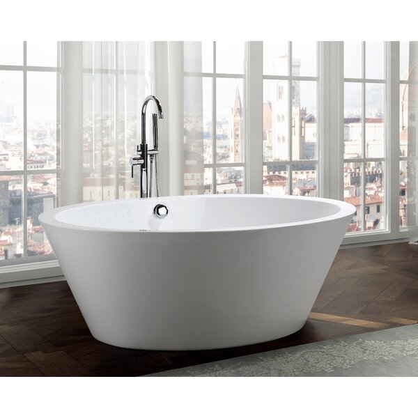 Udine 67 x 43.3 Freestanding Soaking Bathtub by Bellaterra Home