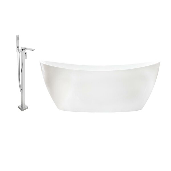 59 x 32 Freestanding Soaking Bathtub by Streamline Bath