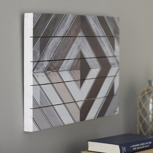 Wood Diamond Dark Graphic Art by Breakwater Bay