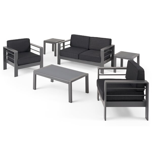 Eaker Outdoor 4 Piece Sofa Seating Group with Cushions by Orren Ellis