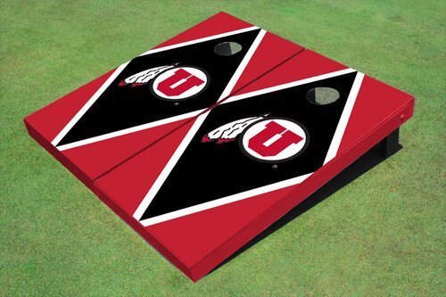 NCAA 10 Piece Matching Diamond Cornhole Board Set by All American Tailgate