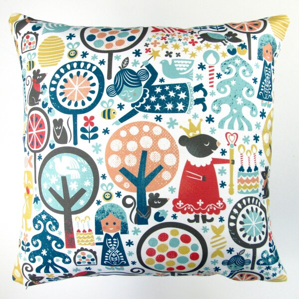Christmas Nutcracker Winter Forest Throw Pillow Cover by Artisan Pillows