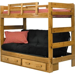 Oralia Futon Bunk Bed with Storage by Harriet Bee