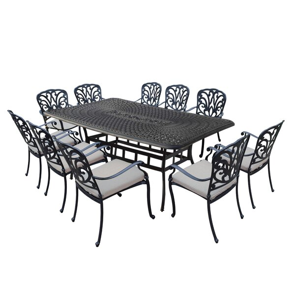 Bosch Aluminum Outdoor 11 Piece Dining Set with Cushions by Darby Home Co