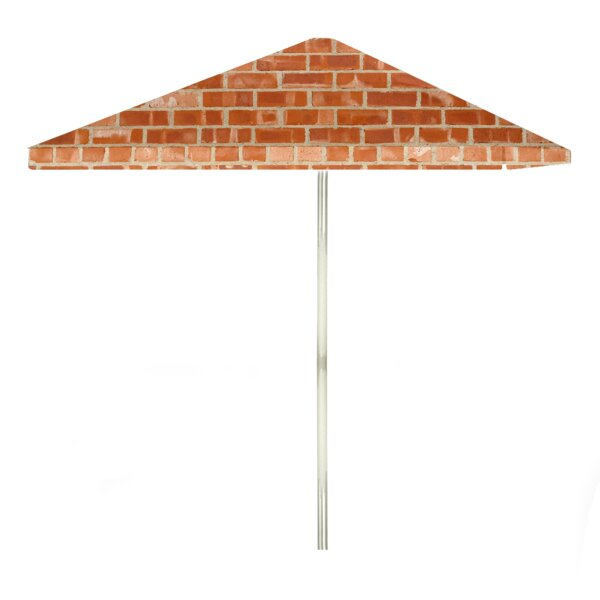 Boston Brick 6' Rectangular Market Umbrella by Best of Times