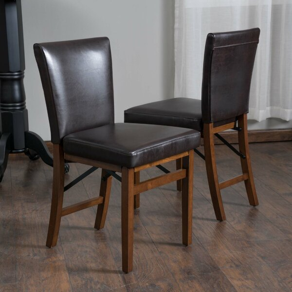 Oshea Genuine Leather Upholstered Side Chair (Set Of 2) By Millwood Pines