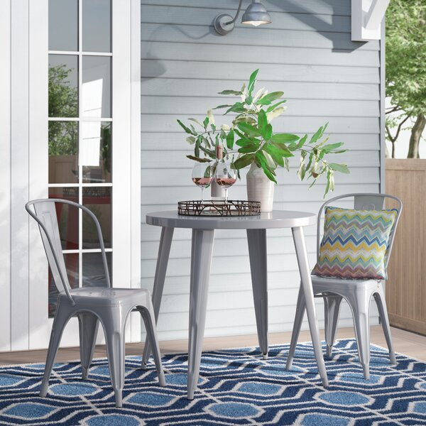 Brinson Metal Indoor/Outdoor 3 Piece Bistro Set by Latitude Run
