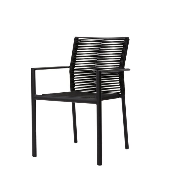 Avalon Arm Rope Stacking Patio Dining Chair by Source Contract