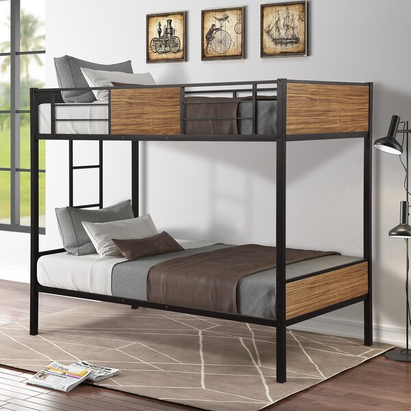 Yosemite Steel Frame Bunk Bed by Harriet Bee