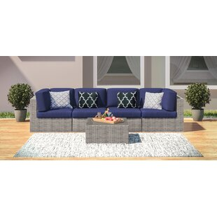 Campa 5 Piece Rattan Sofa Seating Group with Cushions By Longshore Tides