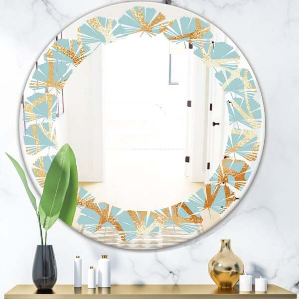 Leaves Luxury Geometrics IV Glam Frameless Wall Mirror