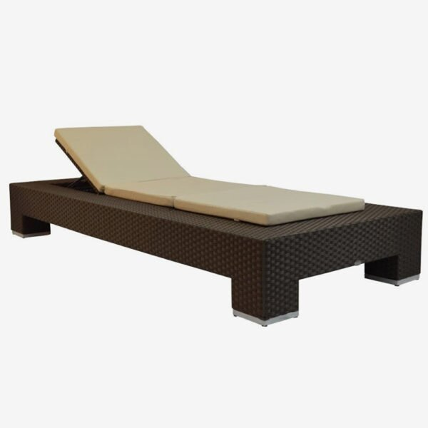 Venice Reclining Chaise Lounge with Cushion