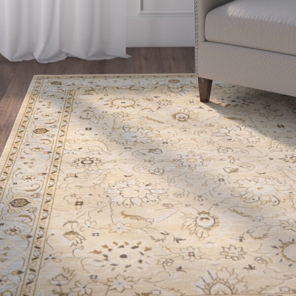 Lavelle Ivory/Grey Area Rug by Charlton Home