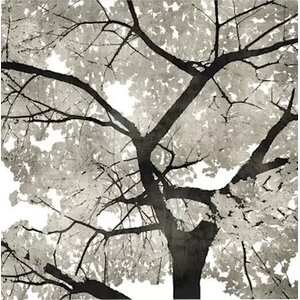 'Silver Leaves' Graphic Art Print on Canvas by East Urban Home