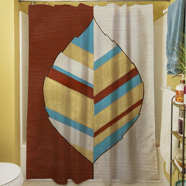 Apache Leaf I Shower Curtain by Manual Woodworkers & Weavers