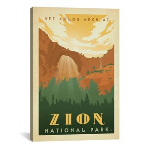Anderson Design Group Asa National Park Zion Graphic Art on Wrapped Canvas by iCanvas