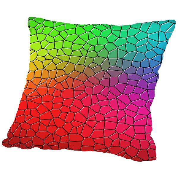 Mosaic Art Throw Pillow by East Urban Home