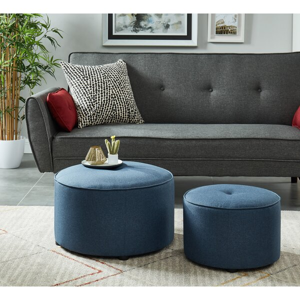 Rhona 2 Piece Ottoman Set by Wrought Studio