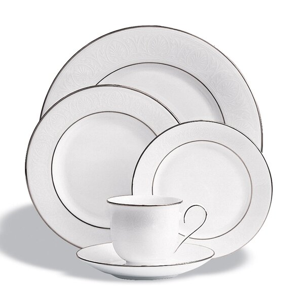 Hannah Platinum Bone China 5 Piece Place Setting, Service for 1 by Lenox