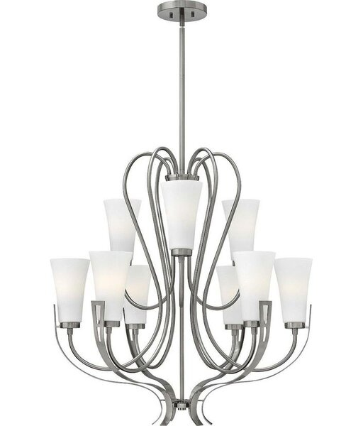 Pritts 9 - Light Shaded Tiered Chandelier by Latitude Run Latitude Run