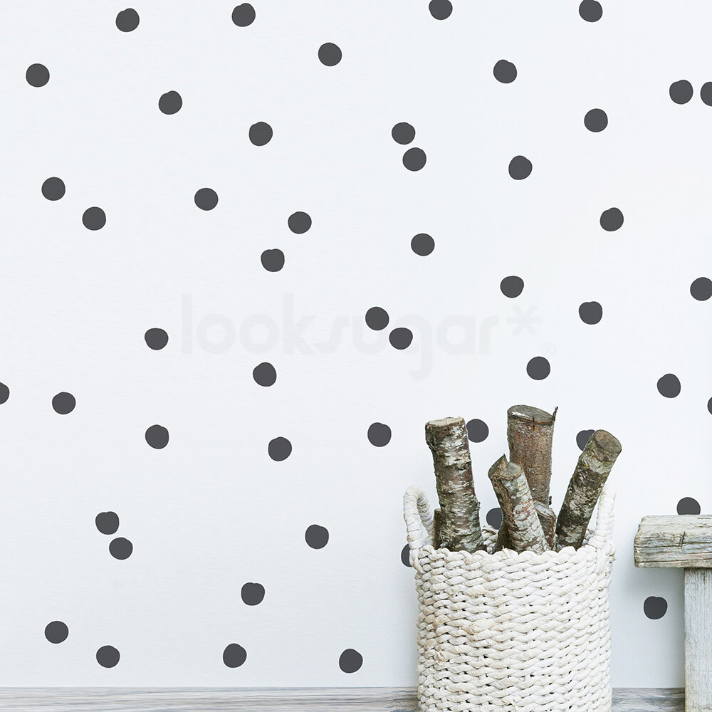 Isabelle Max Hand Drawn Polka Dot Wall Decal Reviews Wayfair