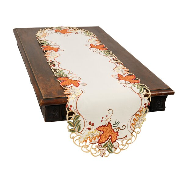 Schumacher Falling Leaves Table Runner by August Grove