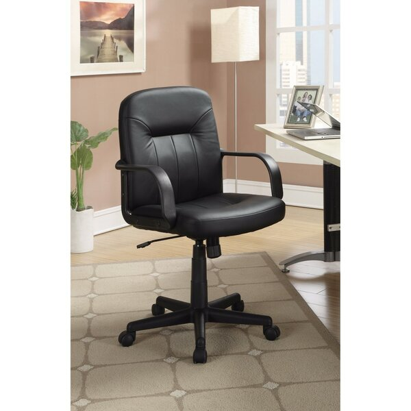 Lansford Medium Back Leather Office Chair by Symple Stuff