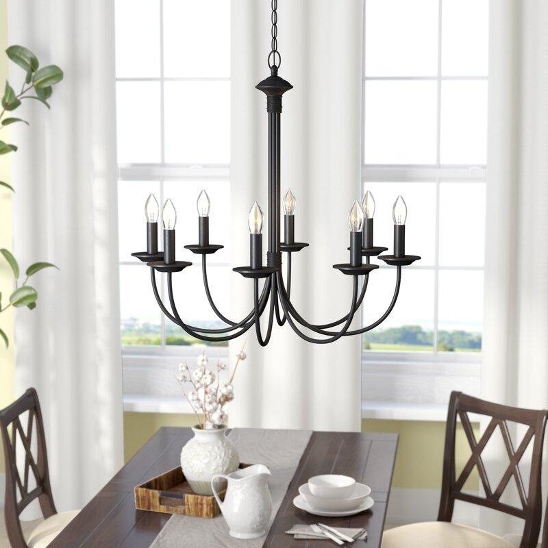 Laurel foundry modern farmhouse shaylee 8 light candle style shaylee 8 light candle style chandelier audiocablefo