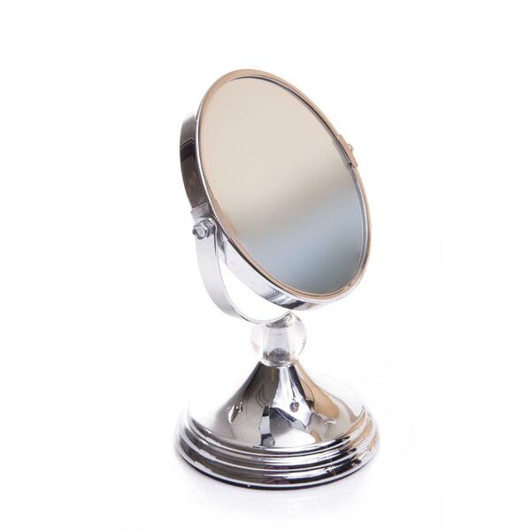 Mini Glamour Mirror with Acrylic Ball Finial by Wildon Home ®