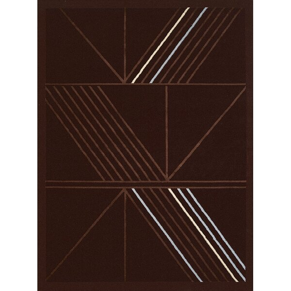 Partlow Dark Brown Area Rug by Wrought Studio