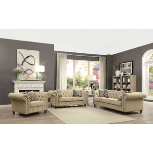 Astrid 3 Piece Living Room Set by Darby Home Co