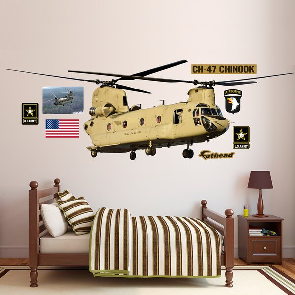 United States Army CH-47 Chinook Helicopter Peel and Stick Wall Decal by Fathead