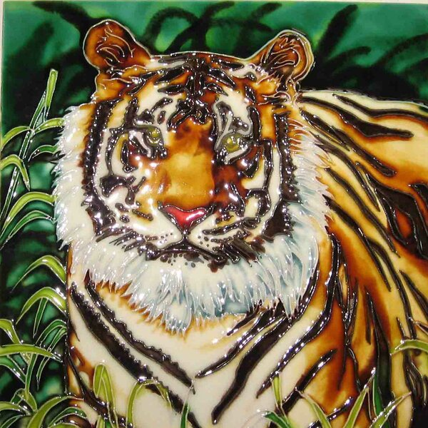 Tiger Tile Wall Decor by Continental Art Center