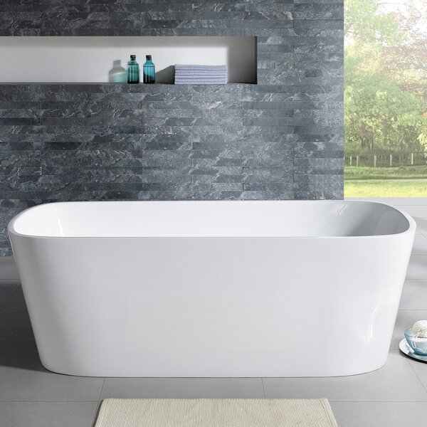 Aria 70'' x 32'' Freestanding Soaking Bathtub by Eviva