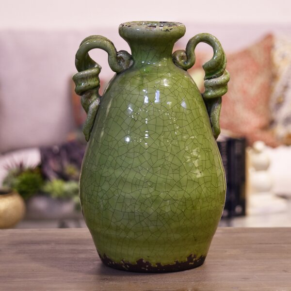 Amphora Ceramic Tuscan Vase by August Grove