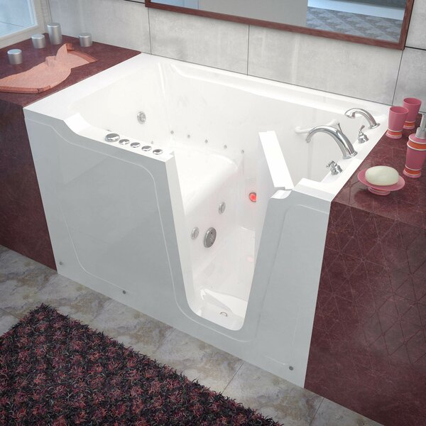 Crescendo 59.7 x 35.8 Whirlpool & Air Jetted Bathtub by Therapeutic Tubs