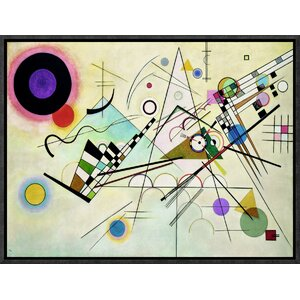'Composition VIII' by Wassily Kandinsky Framed Painting Print on Canvas by Global Gallery