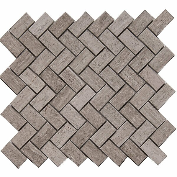 Cross 1 x 2 Marble Mosaic Tile in White Oak by Matrix Stone USA
