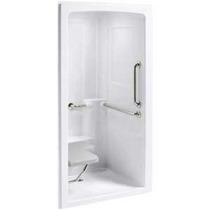 One Piece Corner Shower Stall. Freewill 45 x 37 1 4 84 One Piece Corner Shower Stall Wayfair  fruitesborras com 100 Images The Best