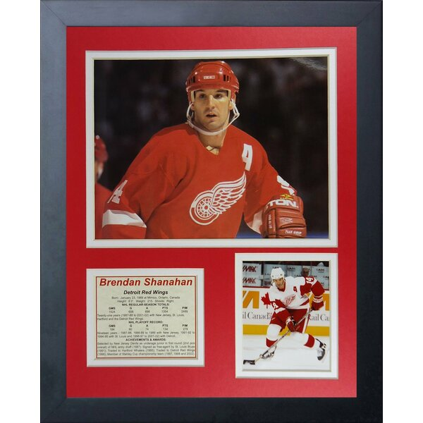 Brendan Shanahan Framed Memorabilia by Legends Never Die