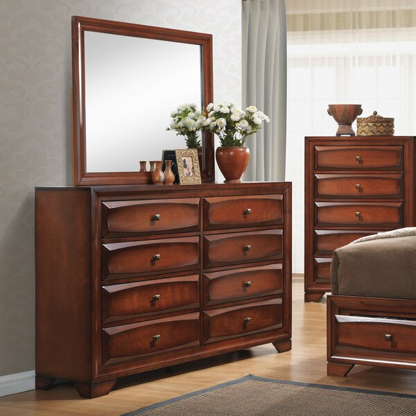 Kibler 8 Drawer Double Dresser by Loon Peak