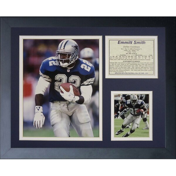 Emmitt Smith Framed Photographic Print by Legends Never Die