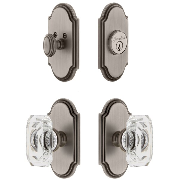 Arc Single Cylinder Knob Combo Pack with Baguette Knob by Grandeur