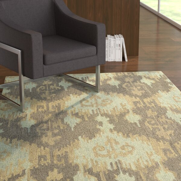 Dodge Mint Chevron Area Rug by Ebern Designs