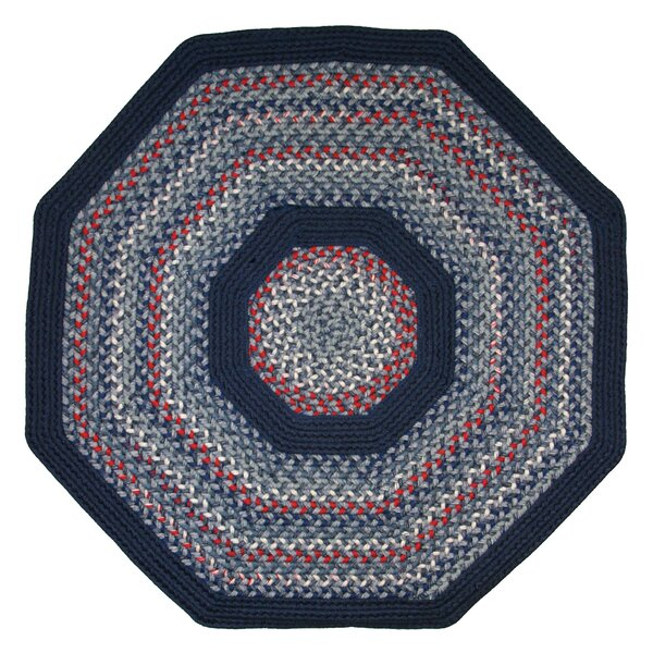 Pioneer Valley II Olympic Blue with Dark Blue Solids Multi Octagon Rug by Thorndike Mills