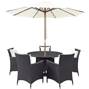 Ryele 7 Piece Dining Set with Cushions By Latitude Run
