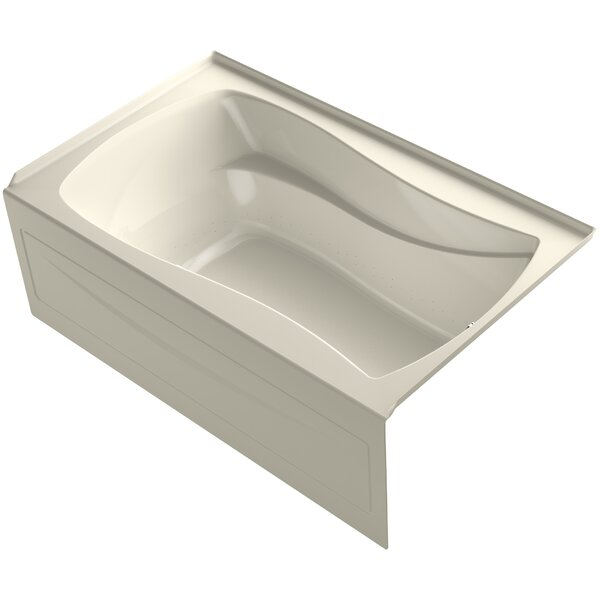 Mariposa® 60 x 36 Alcove BubbleMassage™ Air Bath with Integral Apron by Kohler